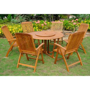 Horace 7 Piece Teak Dining Set by Bay Isle Home
