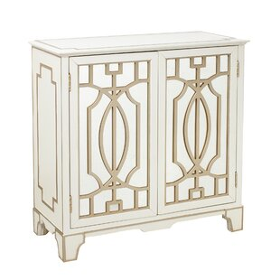 Carlene Traditional Mirrored 2 Doors Accent Chest by House of Hampton Great price