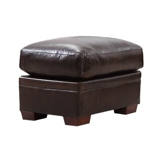 Darby Home Co Cintia Leather Ottoman