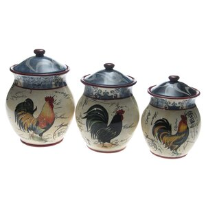 3 Piece Storage Jar Set