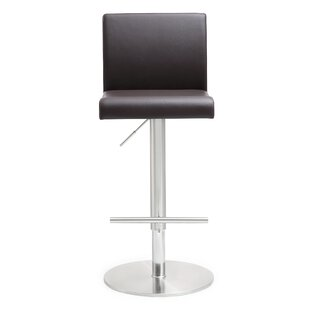 Kiara Adjustable Height Swivel Bar Stool by Orren Ellis