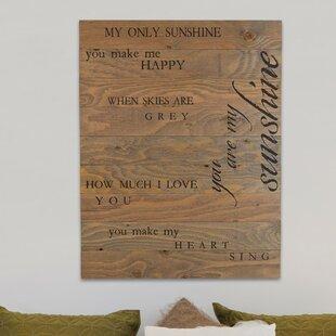 You Are My Sunshine Wall Decor | Wayfair
