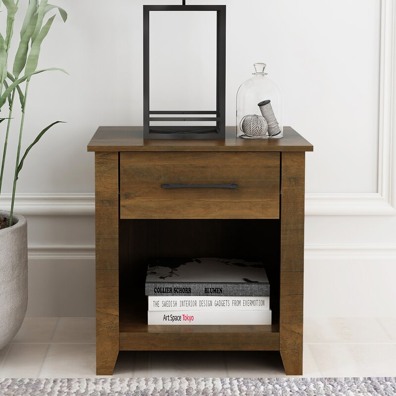 Foundry Select Smedley 1 Drawer Nightstand Reviews Wayfair