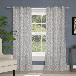 Higgenbotham Geometric Room Darkening Thermal Grommet Curtain Panels (Set of 2) by The Twillery Co.