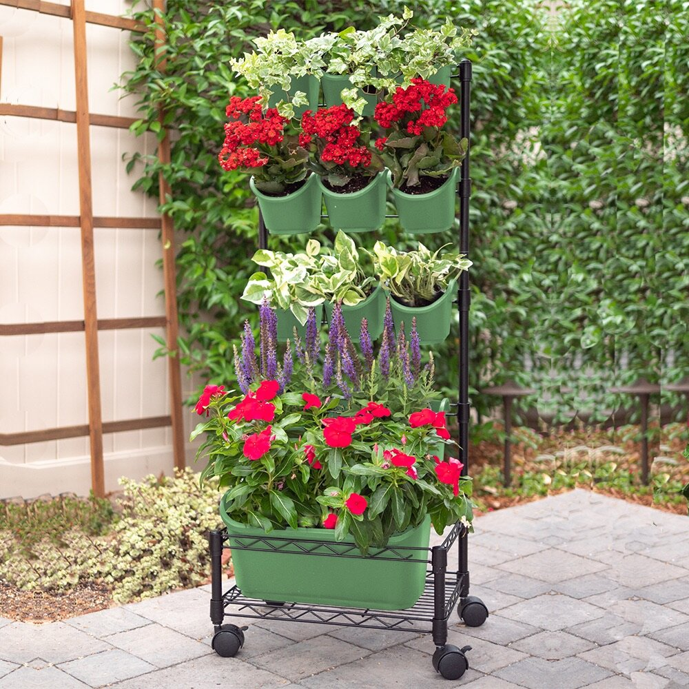 Kalyn Spring Bouquet Mobile Plastic Vertical Garden