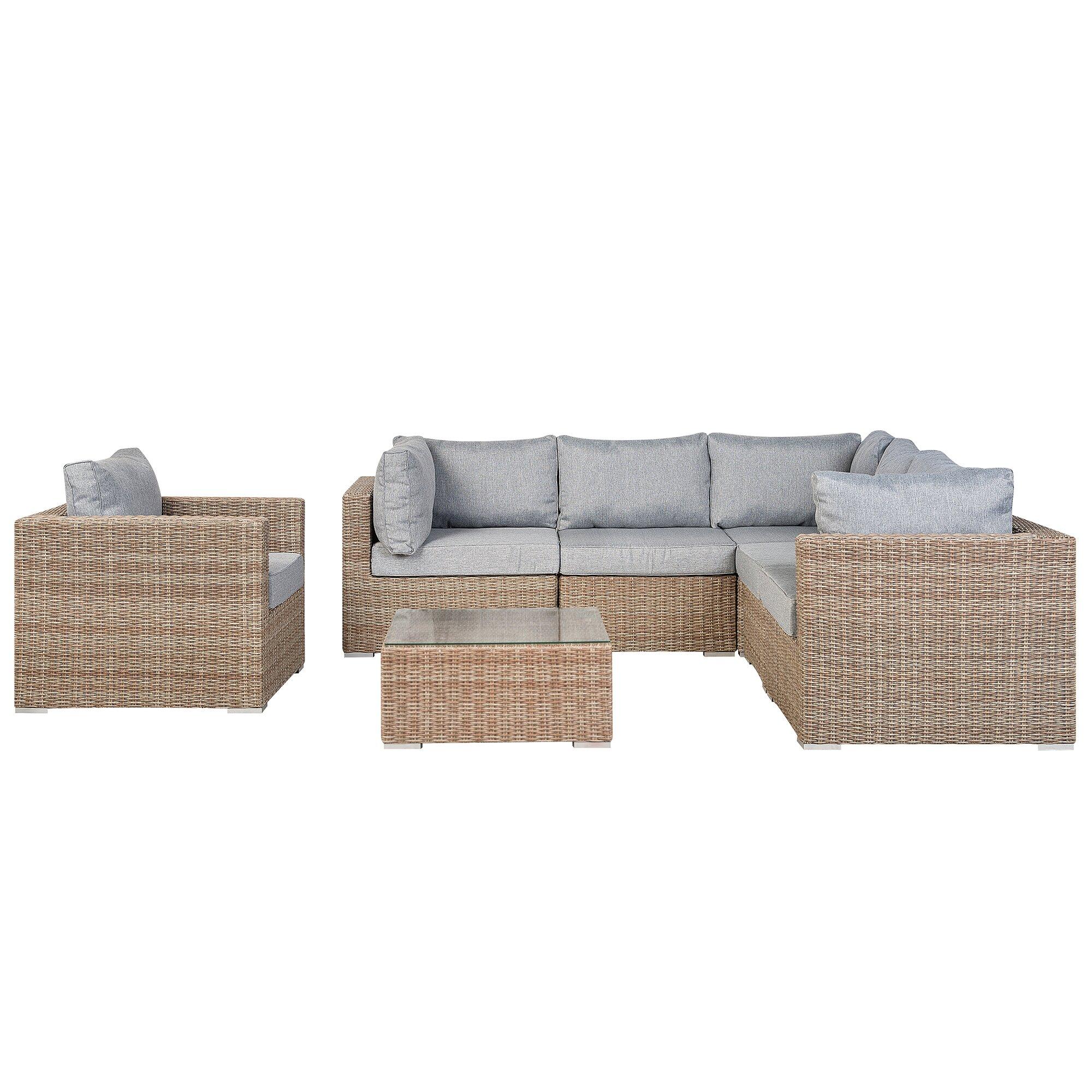 Pleasant Wynnfield 6 Seater Rattan Sofa Set Squirreltailoven Fun Painted Chair Ideas Images Squirreltailovenorg