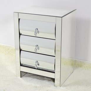 Malwae 3 Drawer Nightstand
