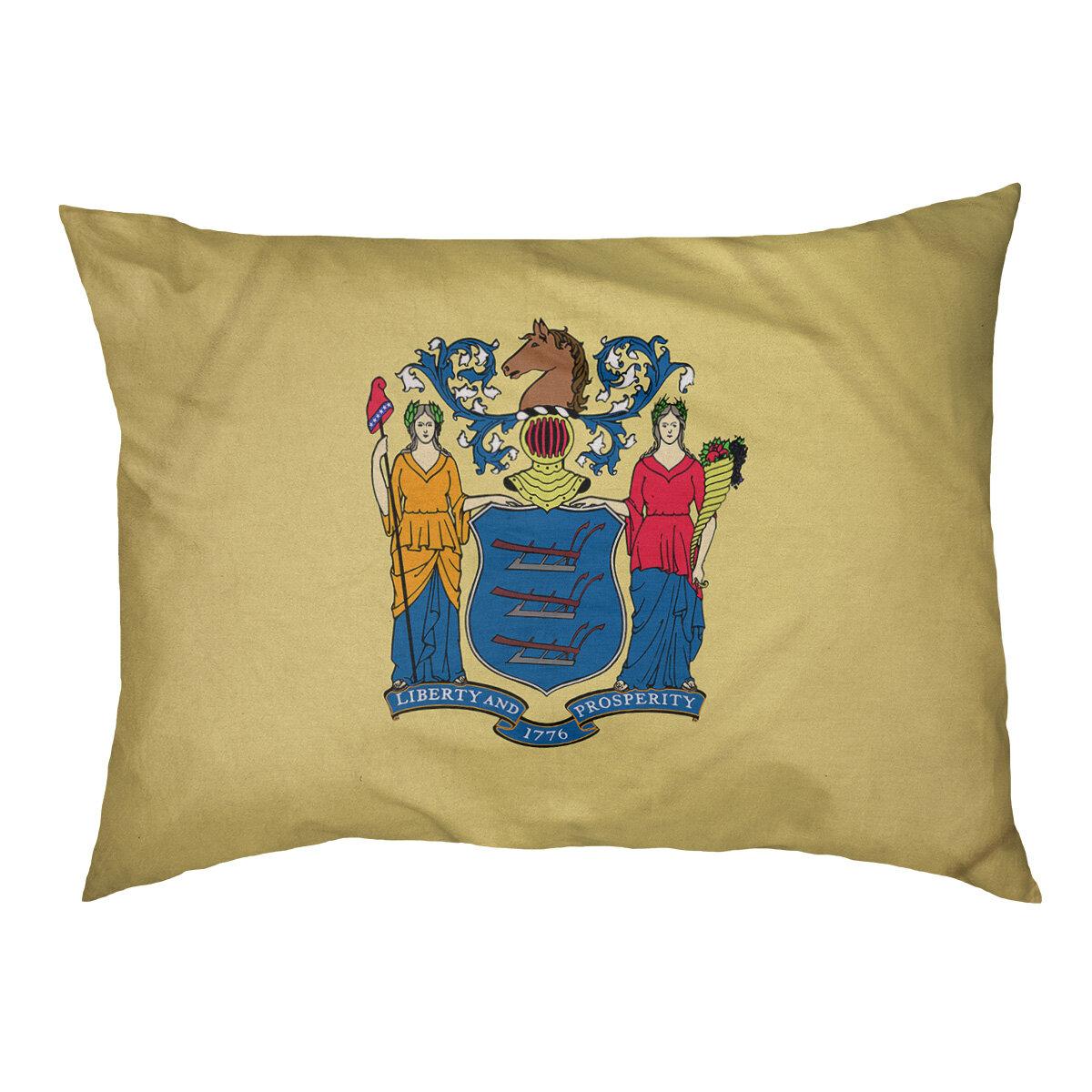 Tucker Murphy Pet Burien New Jersey Flag Dog Pillow Wayfair