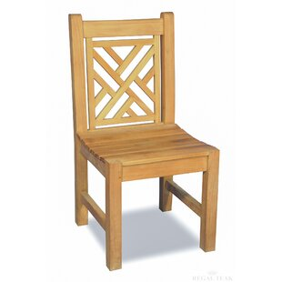 Chippendale Stacking Teak Patio Dining Chair