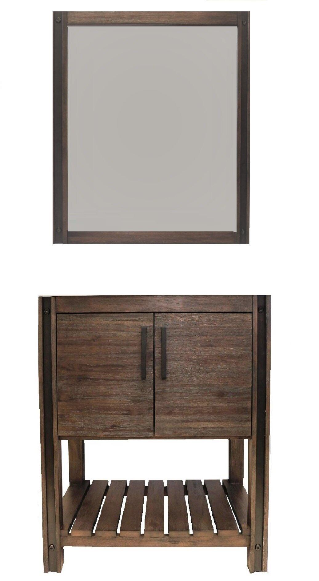 Craftmark Brownsville 24 Single Bathroom Vanity Set With Mirror Wayfair
