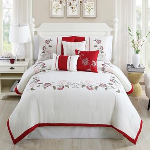 Calla Embroidered 7 Piece Comforter Set