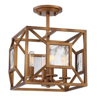 Brilliana 4-Light Semi Flush Mount by Wrought Studio