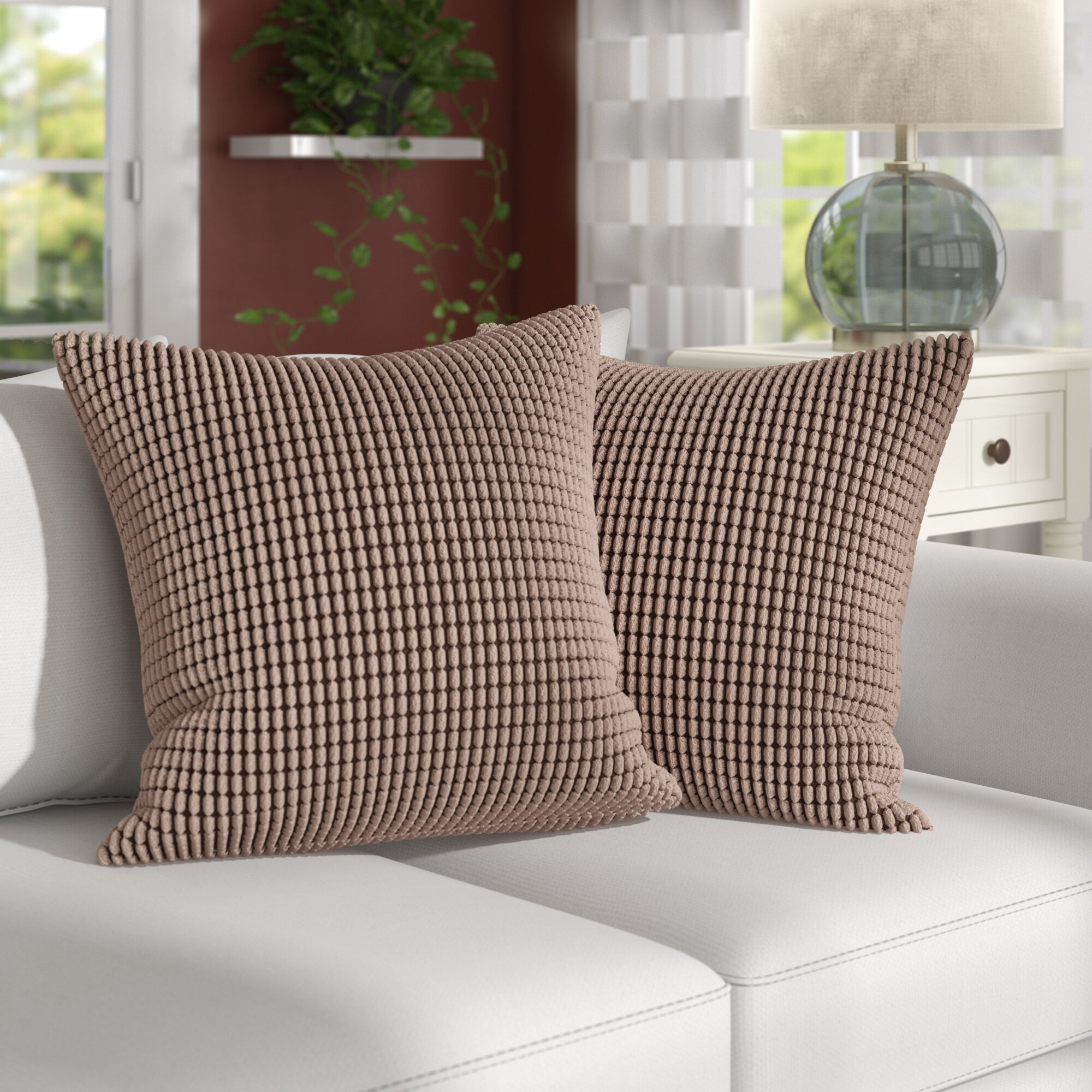 Ebern Designs Miltonvale Square Pillow Cover Reviews Wayfair