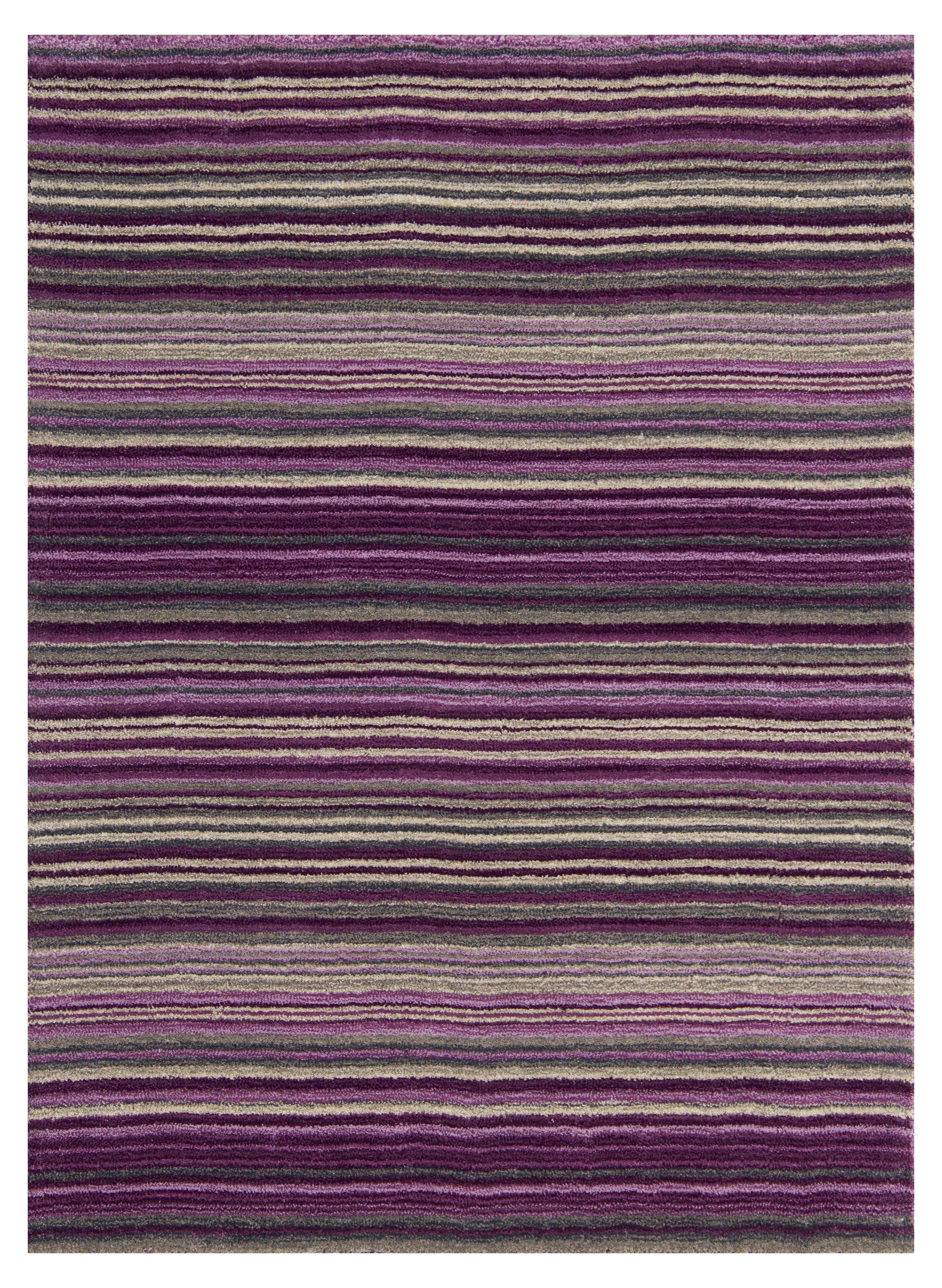 Latitude Run Hand Woven Wool Purple Rug Reviews Wayfair Co Uk