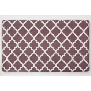 Great Chocolate Ivory Anti Fatigue Printed Memory Foam Comfort Kitchen Mat