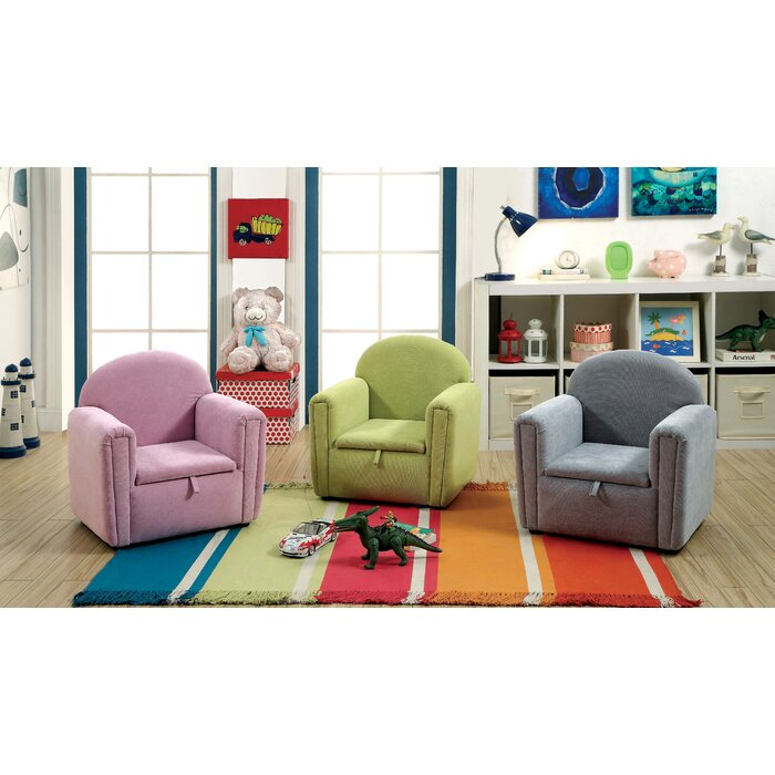 Madie Kids Club Chair With Storage Compartment