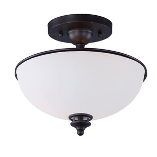 Smyrna 2-Light Semi Flush Mount by Red Barrel Studio