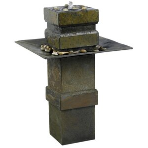 Natural Stone Cubist Slate Outdoor Floor Fountain