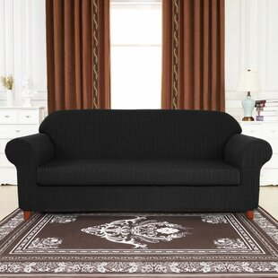 Windmill Jacquard Box Cushion Sofa Slipcover
