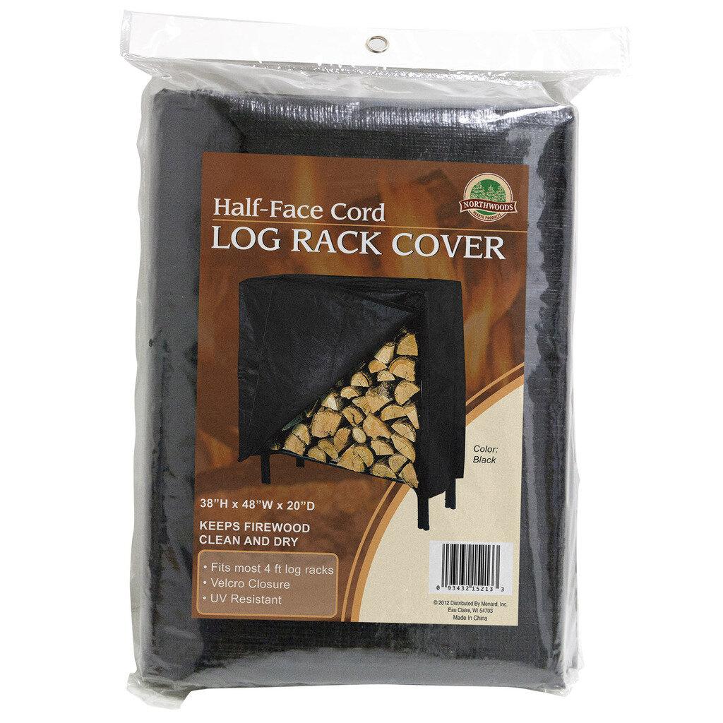 4/' Black Panacea 15213 Vinyl Log Rack Cover