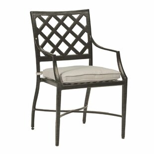 Lattice Patio Dining Chair with Cushion