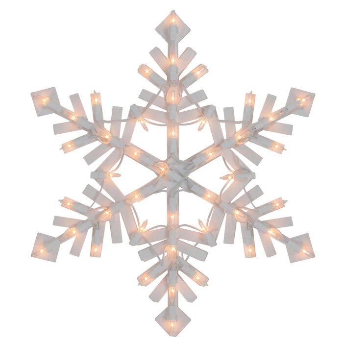 Snowflake 43 Light Lighted Window Decor