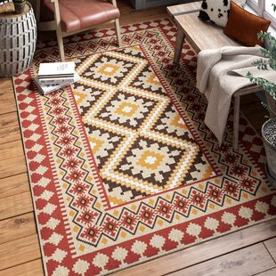 Rangely Red/Beige Indoor/Outdoor Area Rug