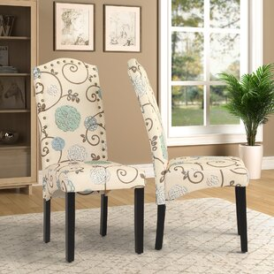 Linen Upholstered Parsons Chair In Beige (Set Of 2) By Red Barrel Studio