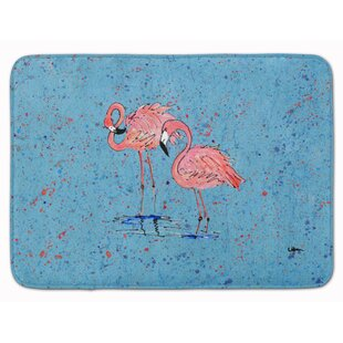 Flamingos Memory Foam Bath Rug By East Urban Home