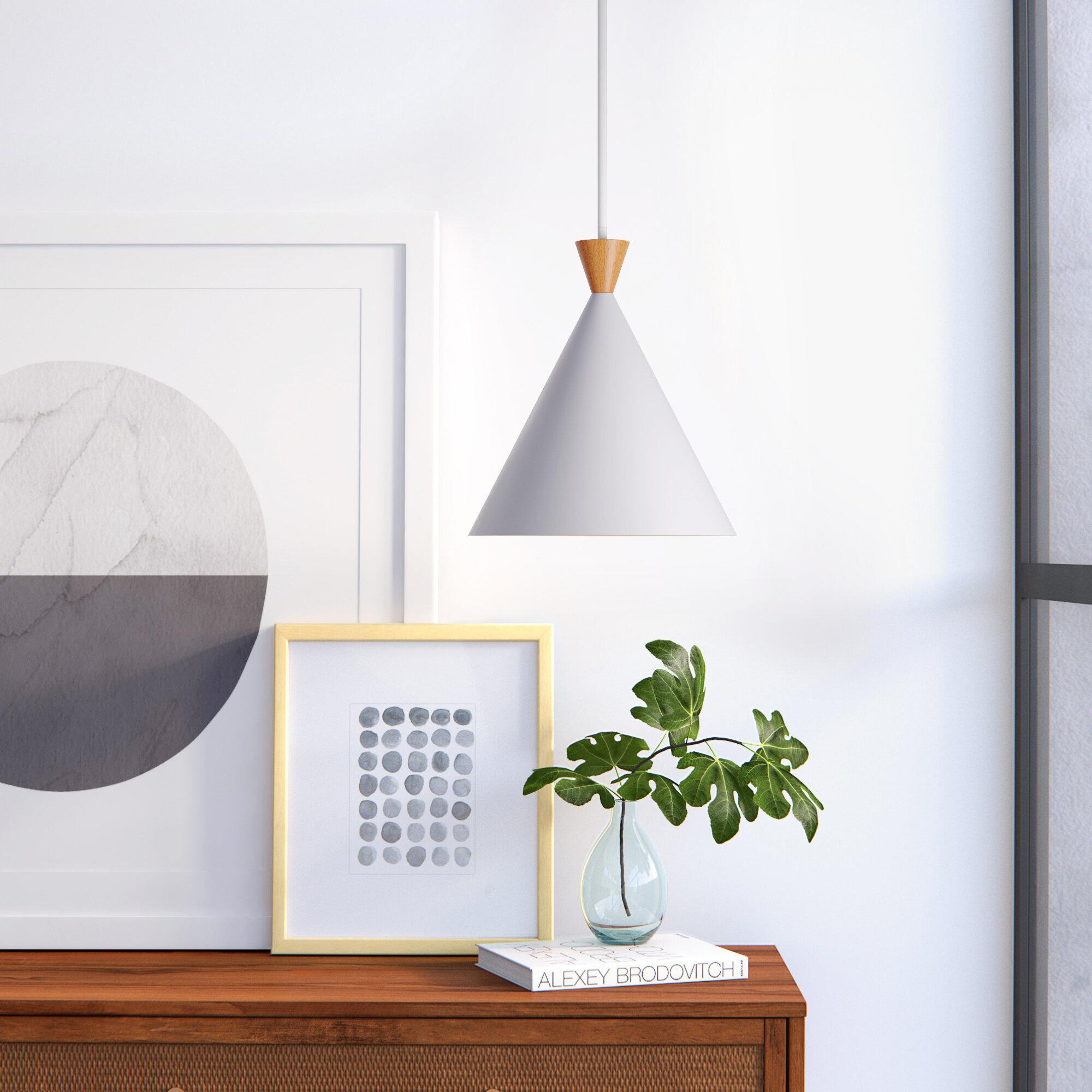 Hackman 1 Light Single Cone Pendant Allmodern