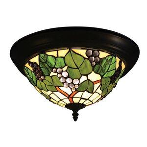 Tiffany Grape 2-Light Flush Mount