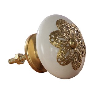 Handpainted Krefft Ceramic Filigree Mushroom Knob (Set of 4)