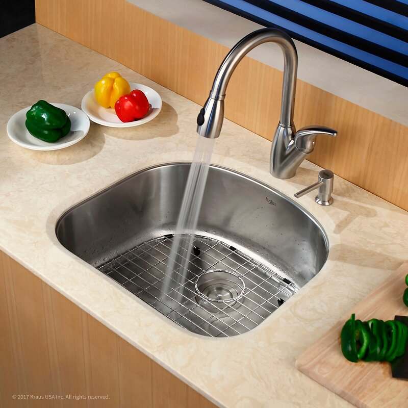23   x 21   undermount kitchen sink with noisedefend    soundproofing arch bathroom sink kraus 23   x 21   undermount kitchen sink with noisedefend      rh   wayfair com