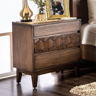 Bloomquist 3 Drawer Nightstand by Bungalow Rose