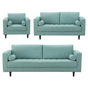 Best Deals Harworth 3 Piece Living Room Set by Corrigan Studio Reviews (2019) & Buyer's Guide