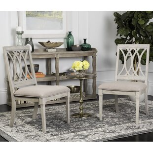 Richland Upholstered Dining Chair (Set of 2) Rosecliff Heights