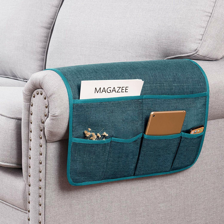 Flat Storage Organizer Bed Holder Pockets Bedside Eco-Friendly Sofa Organizer W