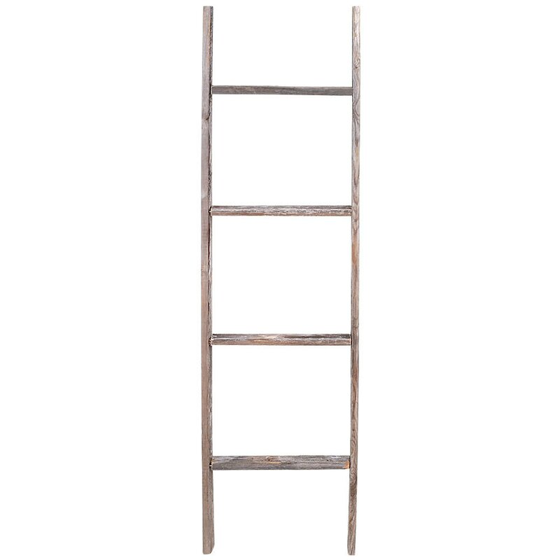 Rustic Wood 4 ft Blanket Ladder