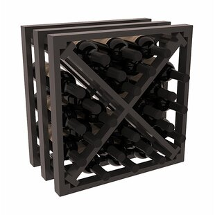 Karnes Pine Lattice X-Cube 24 Bottle Tabletop Wine Rack