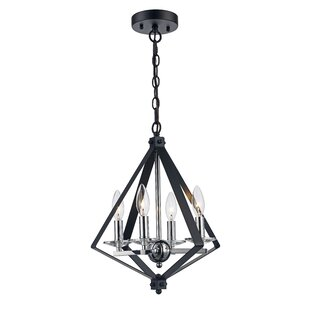 Laughlin 4-Light Geometric Chandelier by Wrought Studio