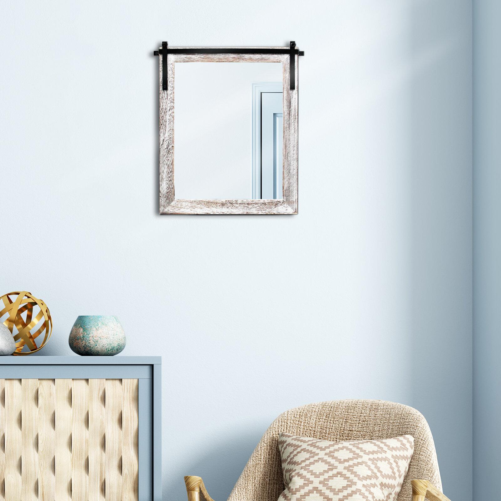 Gracie Oaks Ajwa Distressed Bathroom Mirror Wayfair