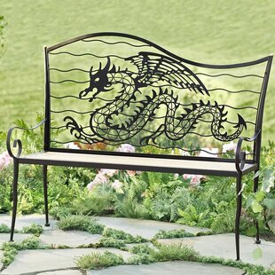 Dragon Metal Garden Bench by Wind & Weather