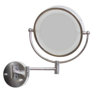 Royal Purple Bath Kitchen Round Brass-LED Wall Mount Magnifying Wall Mirror