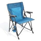 Heavy Duty Hard Arm Folding Camping Chair with Cushion