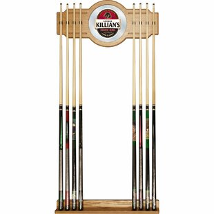 George Killian 2 piece Wood and Mirror Wall Cue Rack by Trademark Global