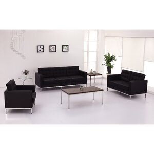 Pyron Contemporary Leather Loveseats