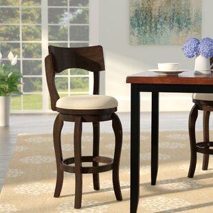 Wescott 24 Swivel Bar Stool by Three Posts