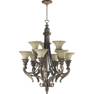 Astoria Grand Mcfarlin 9-Light Shaded Chandelier