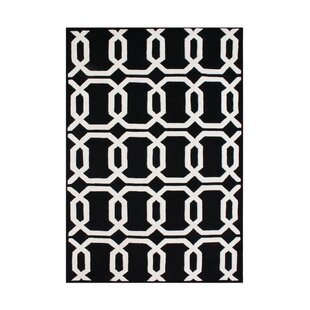 Best Umapine Hand-Tufted Black/White Area Rug ByThe Conestoga Trading Co.