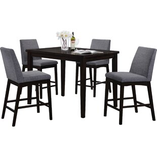 Della 5 Piece Bar Height Dining Set by Iv..